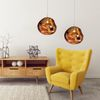 Glass Pendant Ceiling Lamp Gold APP331-1CP