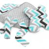Reversible liner/ mat baby stroller 4in1 Blue/Grey Zig Zag