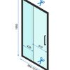 Sliding shower doors Rapid Slide 100