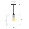 Glass Pendant Ceiling Lamp APP312-1CP Loft