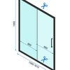 Sliding shower doors Rapid Slide 160