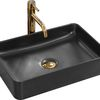 Ceramic Countertop Basin AVIA Black Mat