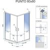 Square shower enclouser Rea Punto 80x80