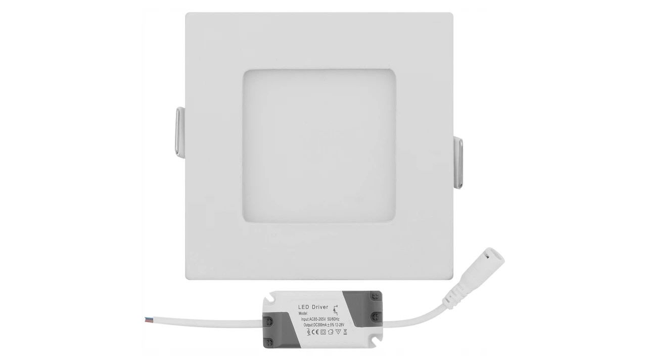Wall-mounted Panel LED Square White 6W
