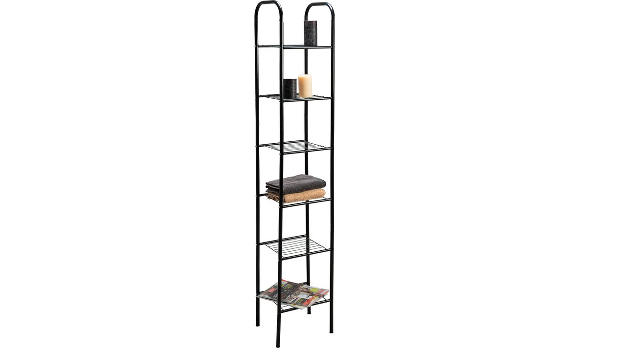 6 Tier Bathroom shelf Black