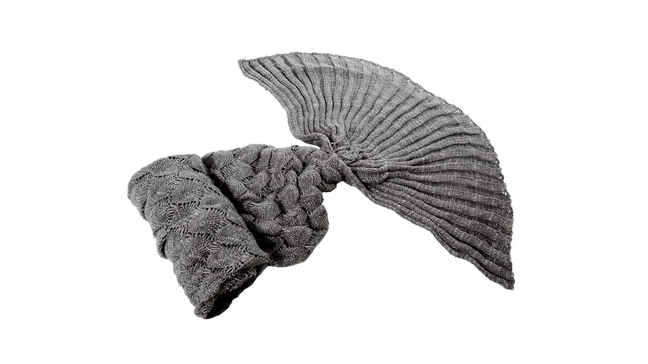 Blanket Mermaid Tail Grey