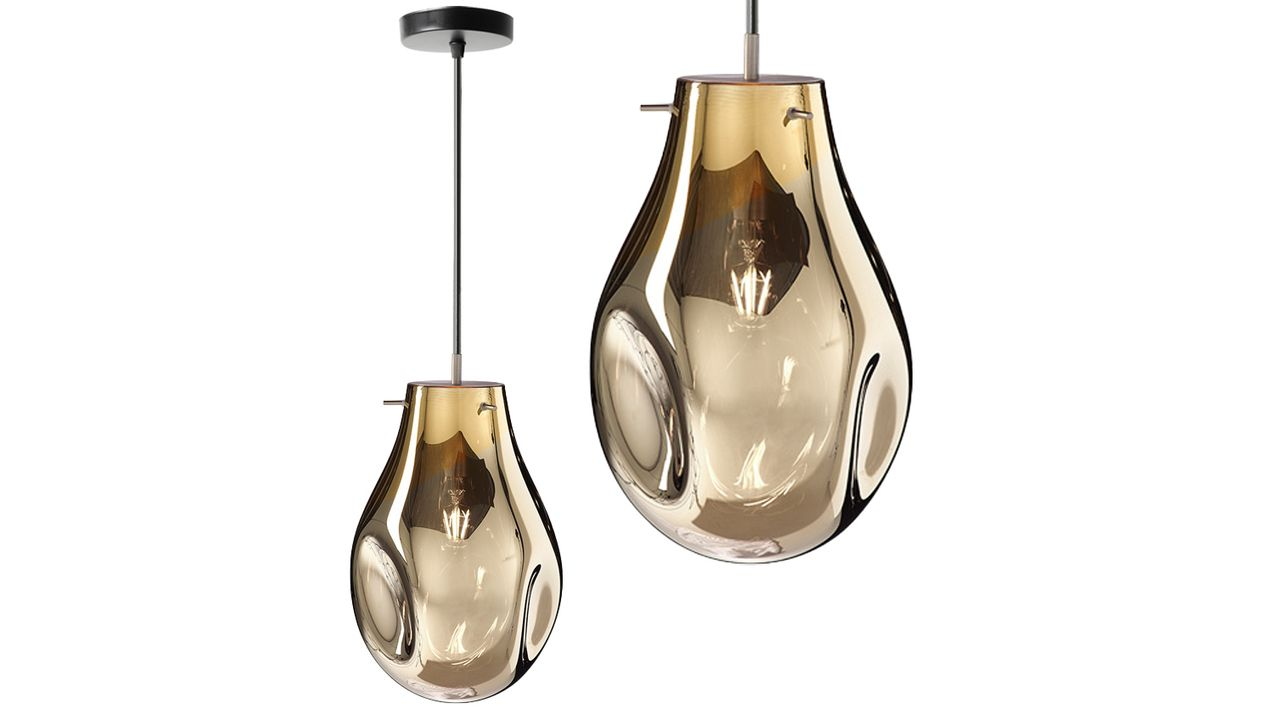 Ceiling Pendant Lamp Glass APP328-1CP Amber