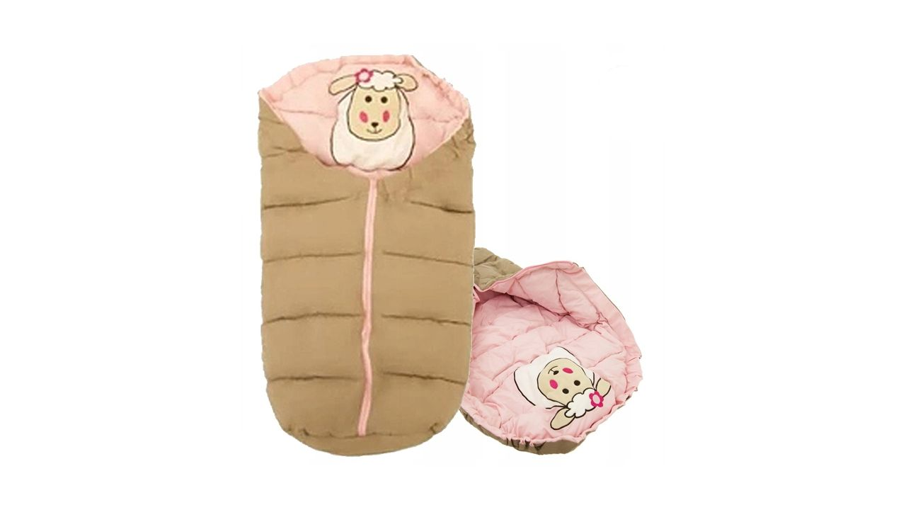 Kids' Sleeping Bags 4in1 Sheep Beige-Pink