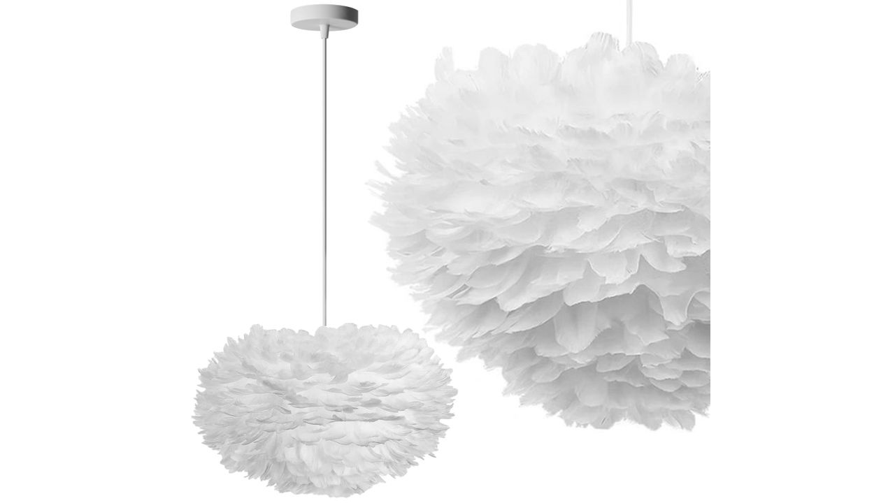 Pendant Feather Lamp White APP335-3CP