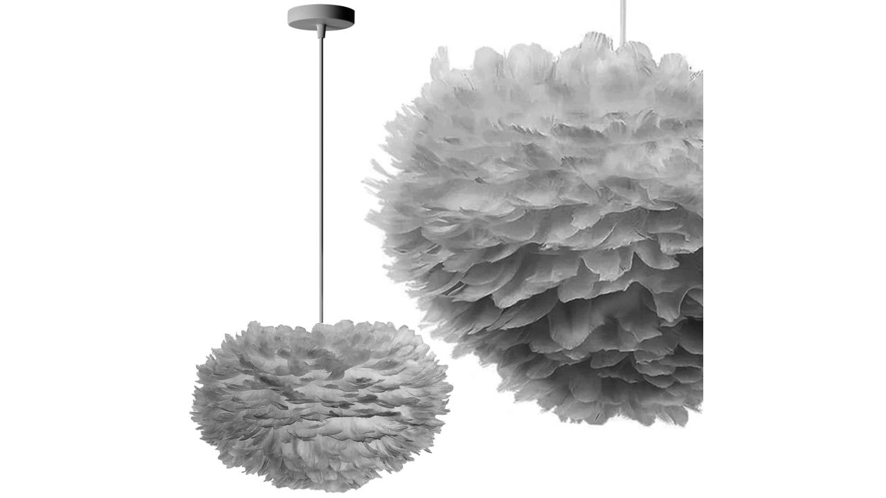 Pendant Feather Lamp Grey APP334-3CP