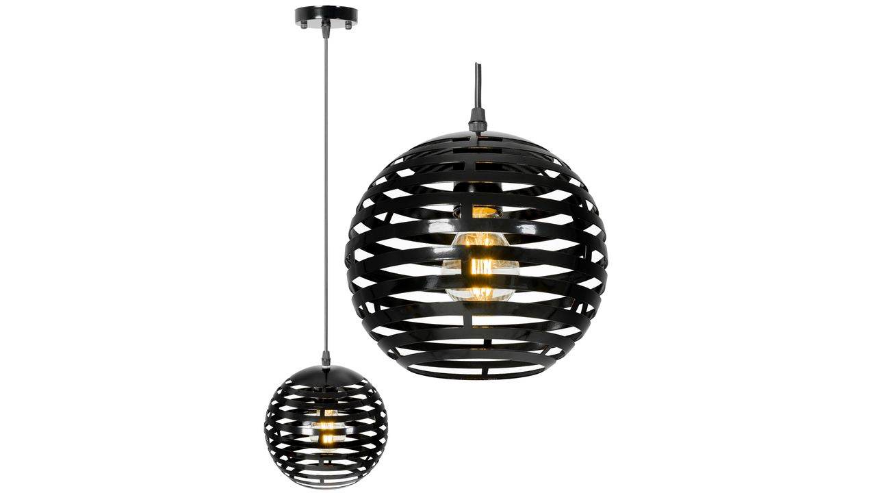 Round Ball Metal Ceiling Lamp Black APP336-1CP