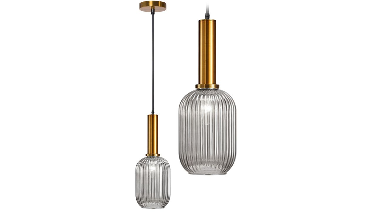 Glass Pendant Ceiling Lamp Transparent APP457-1CP