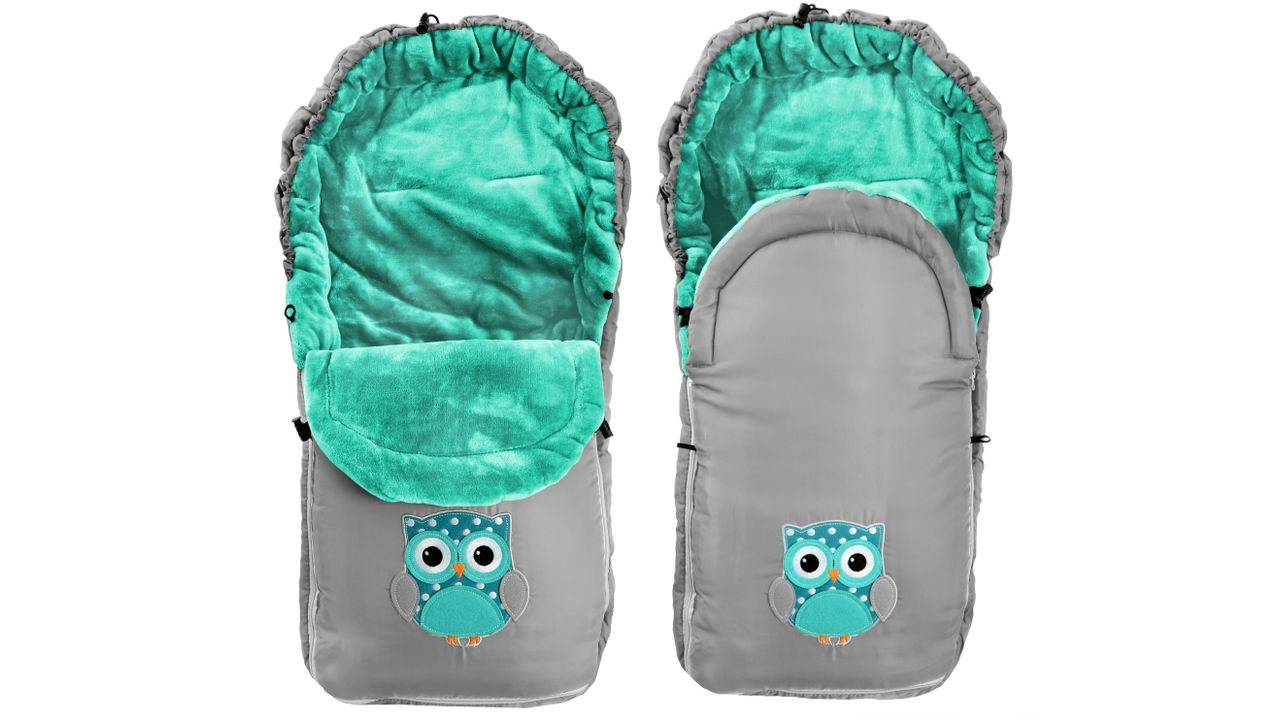 Kids' Sleeping Bags Owl Grey-Mint