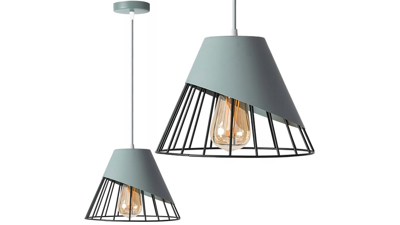Metal Pendant Ceiling Lamp Shade Grey APP229-1CP