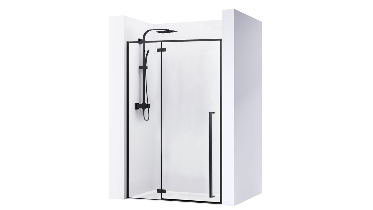 Shower doors FARGO BLACK MAT 120
