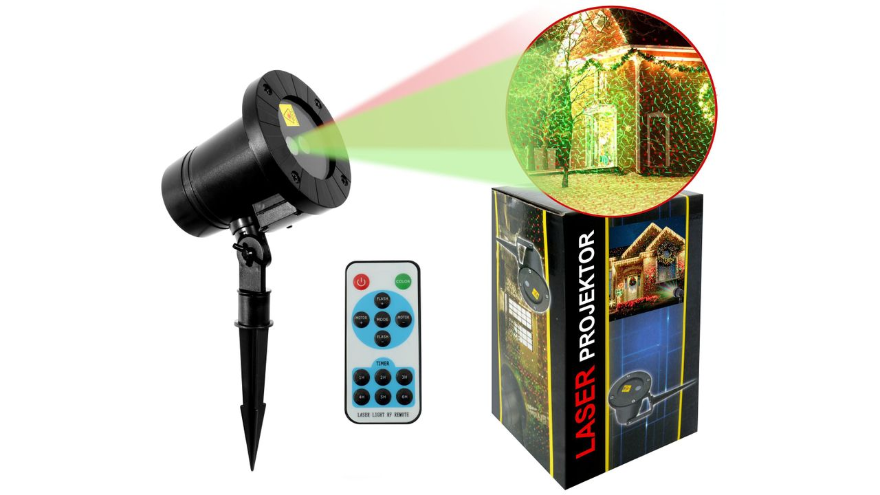 Laser projector with remote External