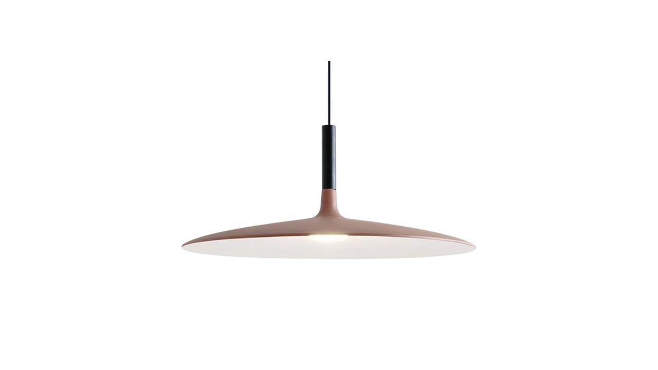Single Pendant Ceiling Lamp FLAT C 45cm Mocca
