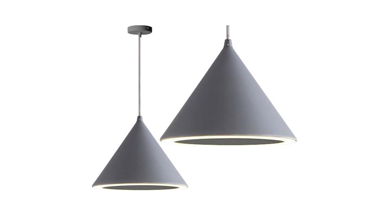 Pendant Ceiling Lamp Cone LED GRAY