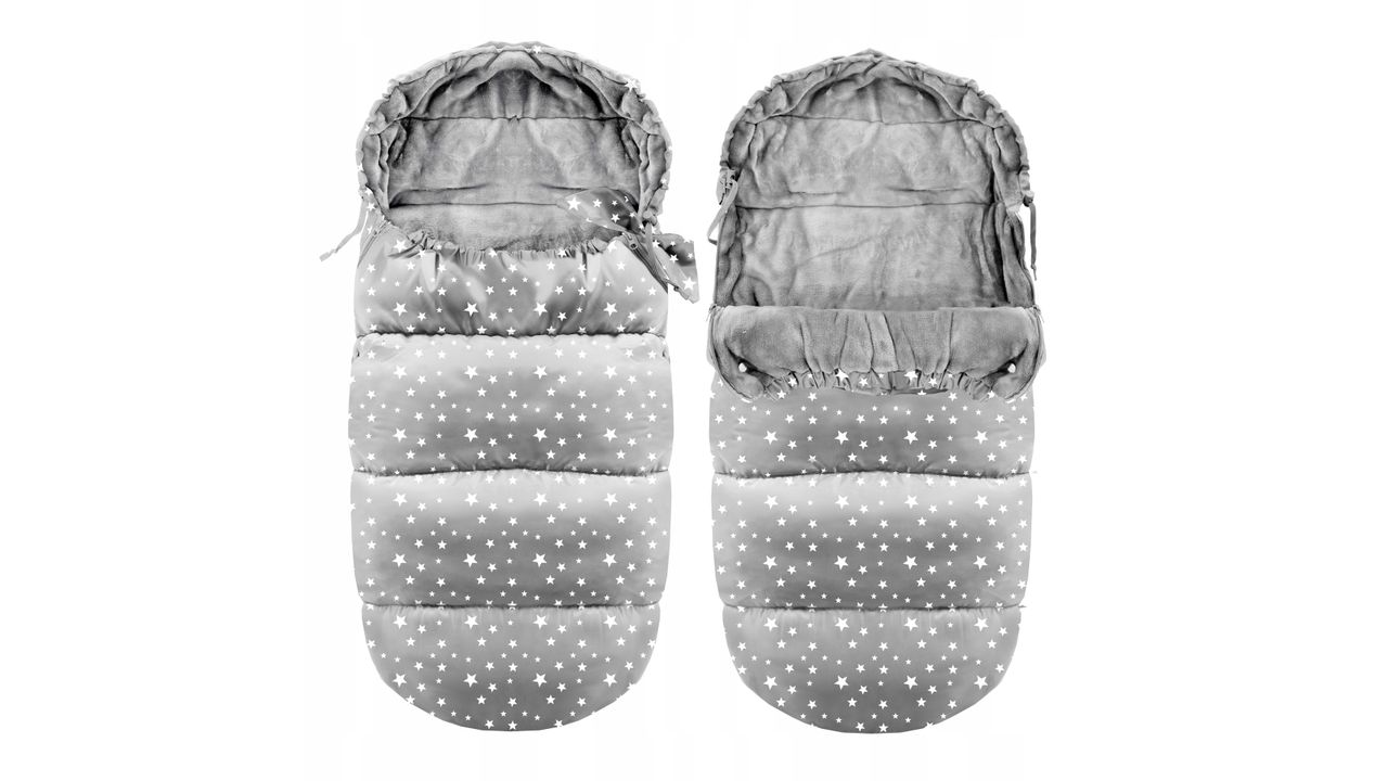 Kids' Sleeping Bags Ice Grey with stars