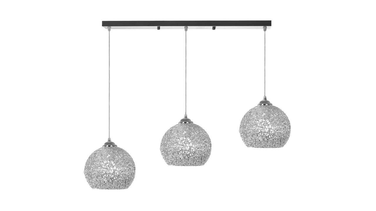 Triple Metal Pendant Ceiling Lamp Chrome APP633-3cp