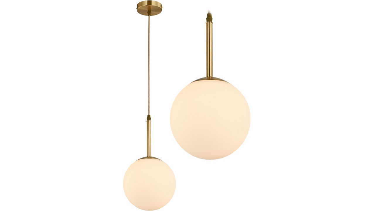 Glass Ceiling Lamp White APP431-1CP