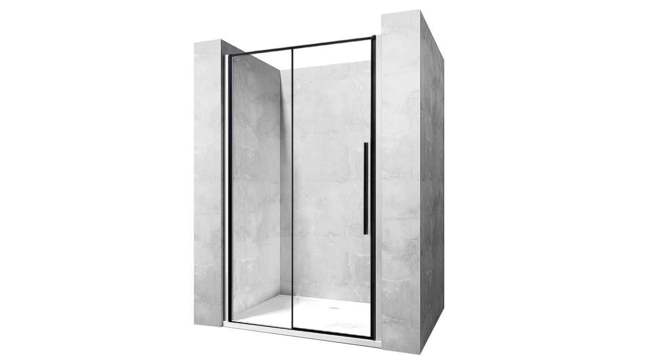 Shower doors SOLAR BLACK MAT 90