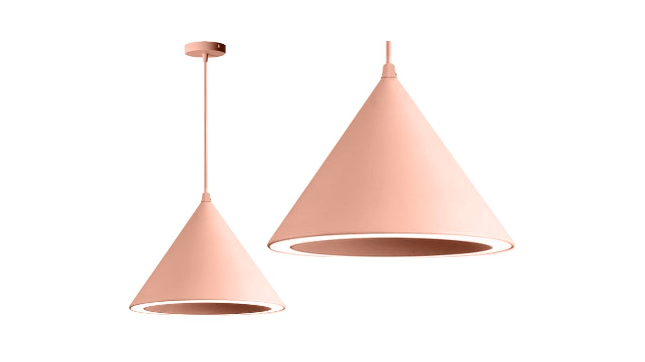 Pendant Ceiling Lamp Cone LED PINK