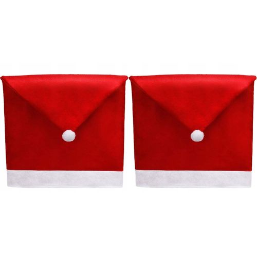Chair Cover Cap Santa Claus 2 pieces