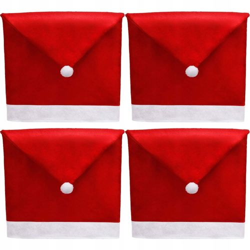 Chair Cover Cap Santa Claus 4 pieces