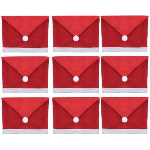 Chair Cover Cap Santa Claus 10 pieces